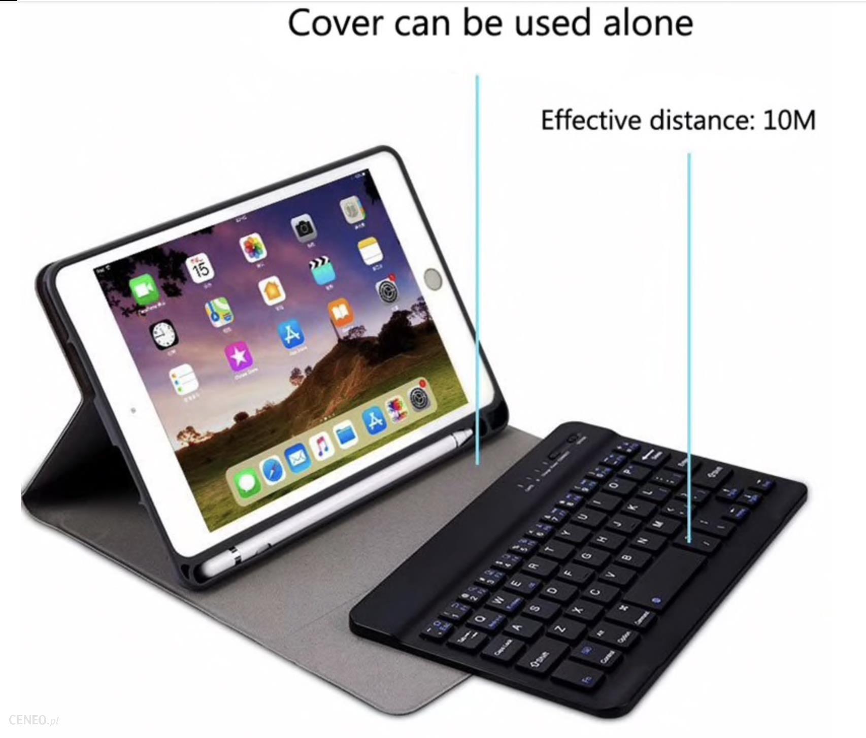 Etui z klawiaturą iPad Mini 4/5 2019 Case z Klawiaturą Czarne