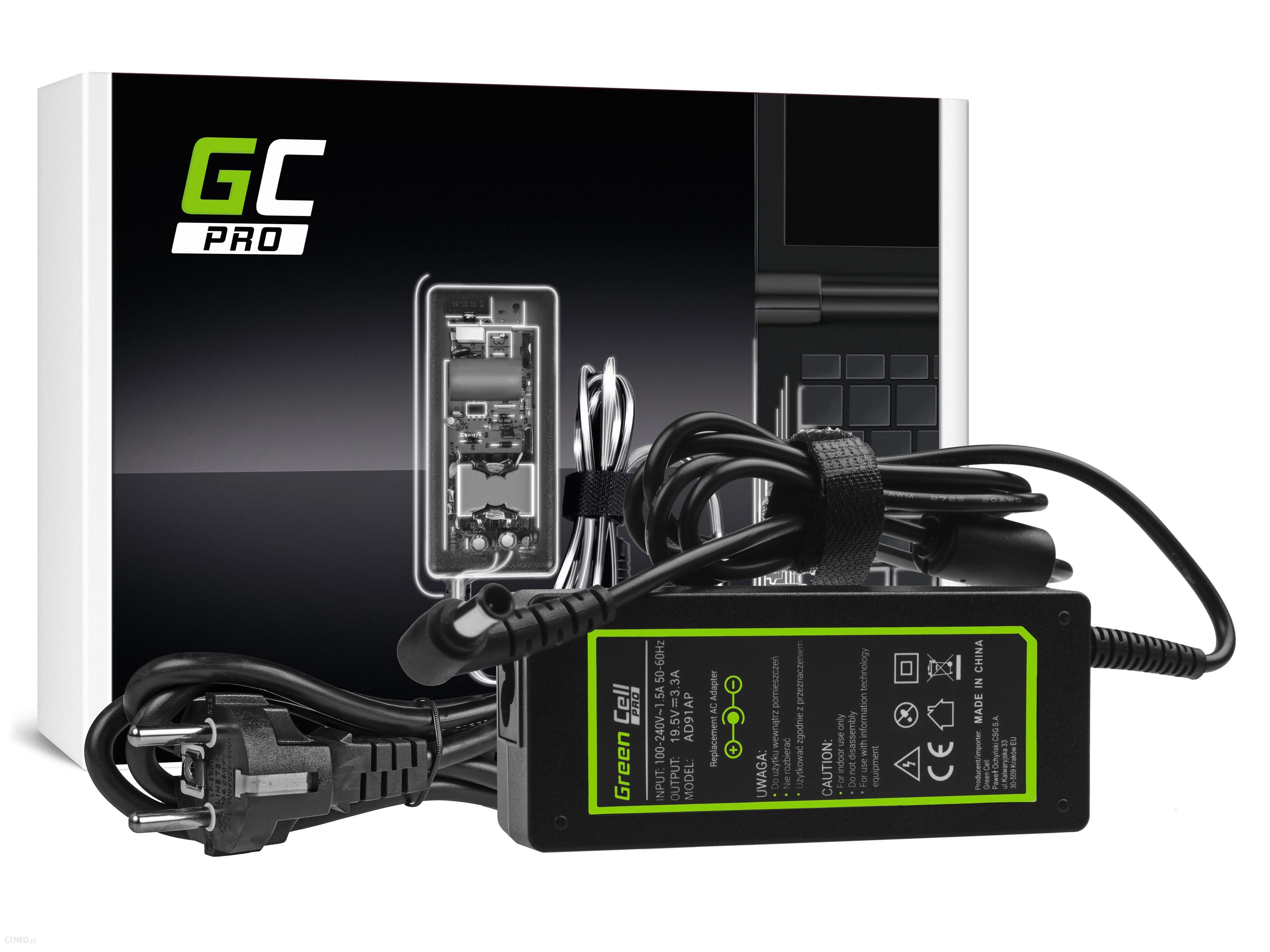 Green Cell Zasilacz PRO 19.5V 3.34A 65W do Sony Vaio SVF14 SVF15 SVF152A29M SVF1521C6EW SVF15AA1QM (AD91AP)