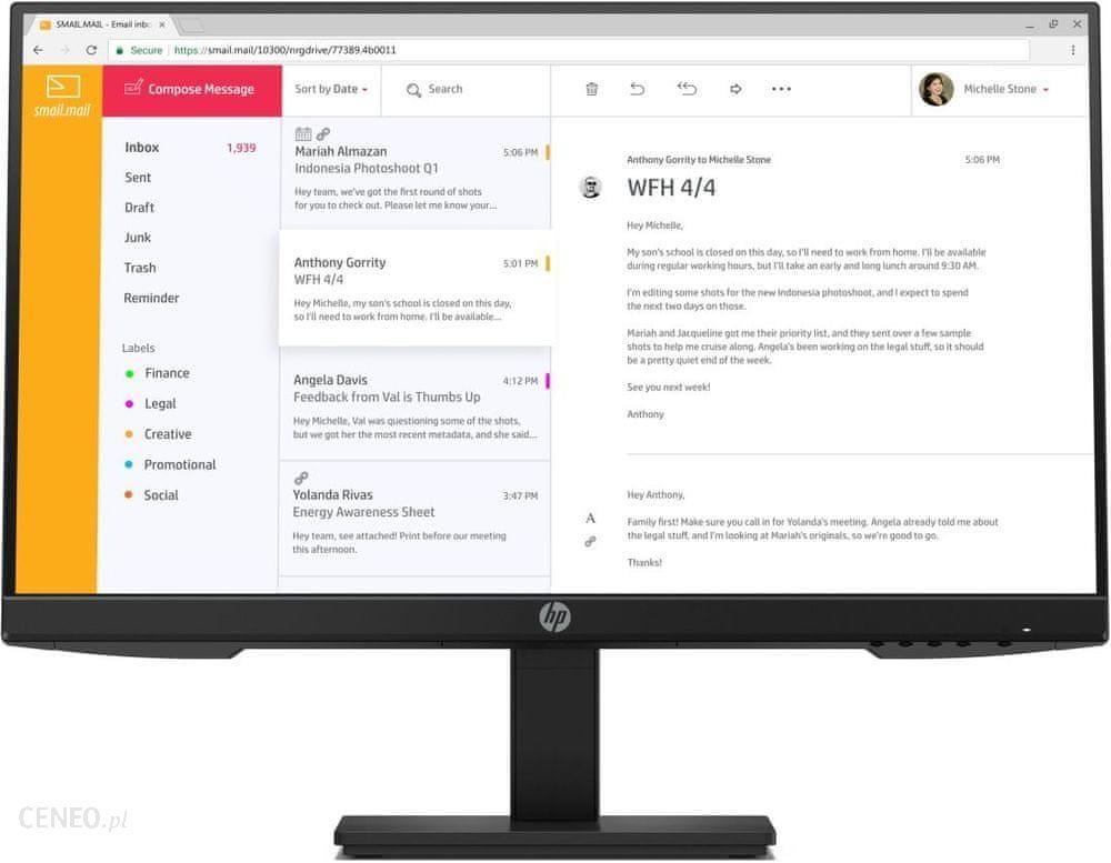 Monitor HP 24″ P24h G4 czarny (7VH44AA)
