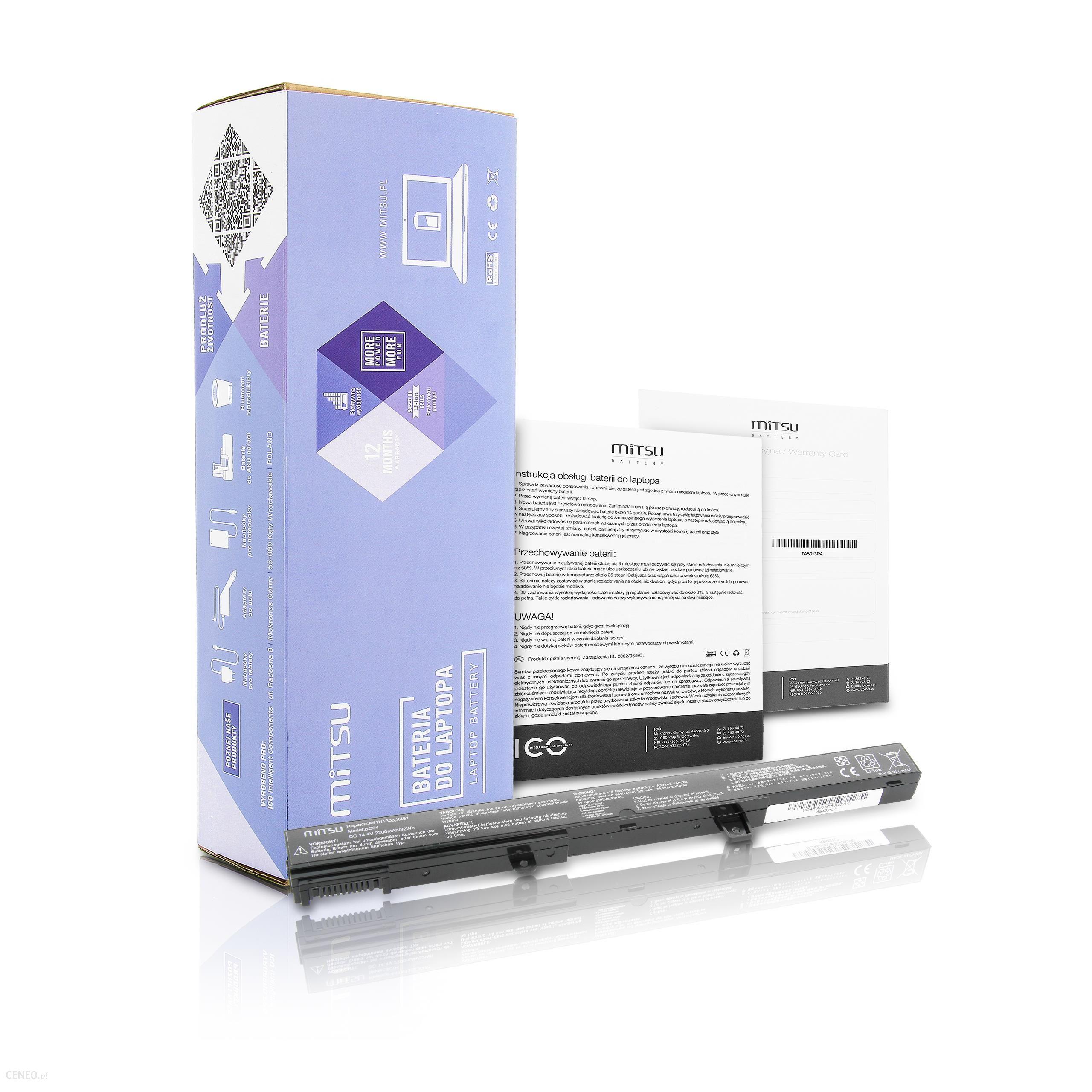 Mitsu Bateria Asus X451, X551 2200 mAh (BCASX451)