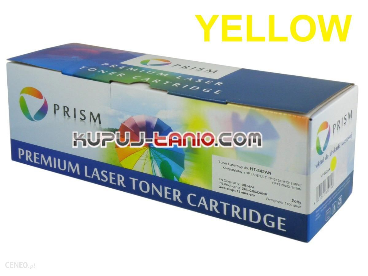 Prism HP 125A Yellow toner do HP (HP CB542A, Prism) do HP Color LaserJet CM1312 MFP, HP Color LaserJet CM1312nfi MFP, HP Color LaserJet CP1215