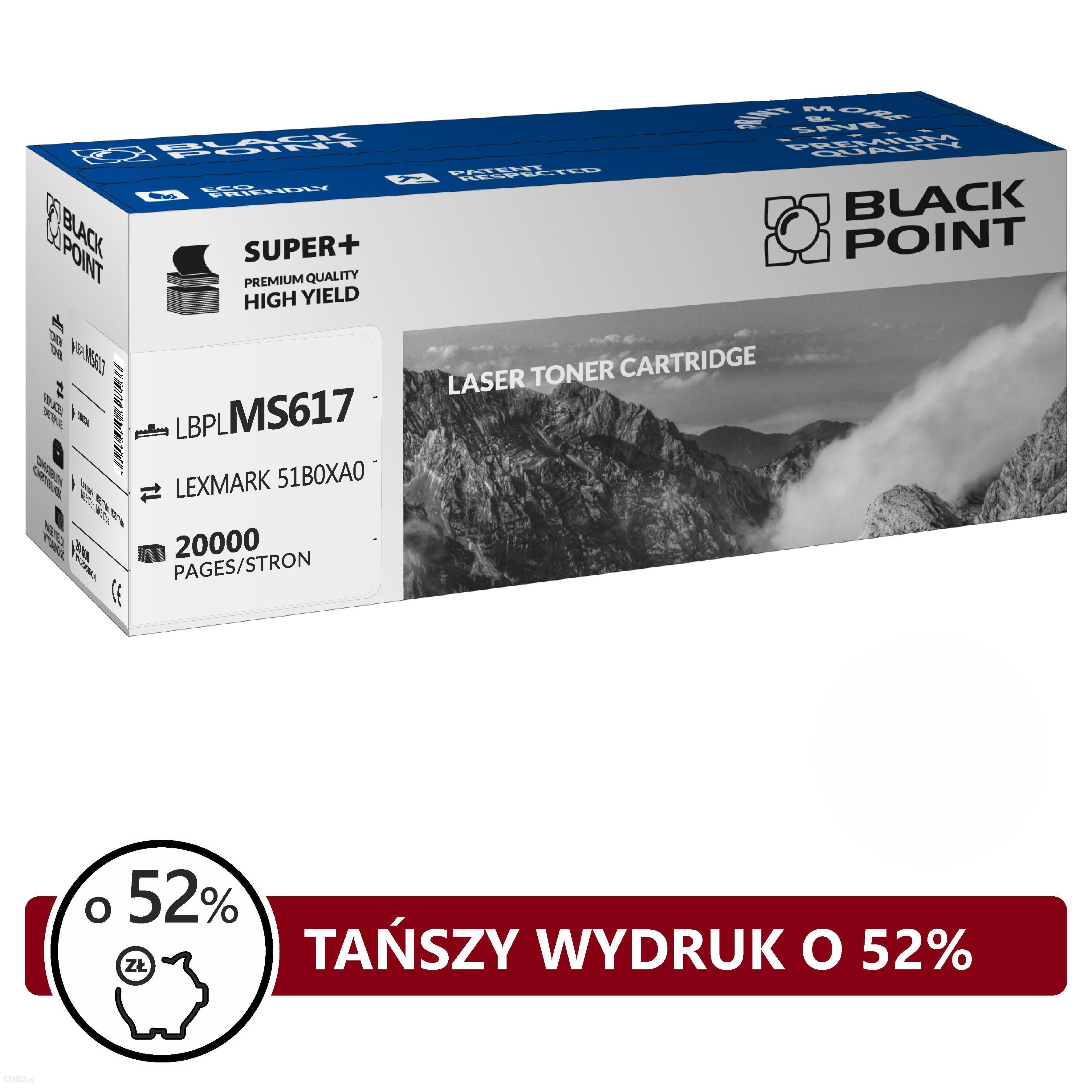TONER BLACK POINT SUPER PLUS-LEXMARK 51B0XA0 (LBPLMS617)